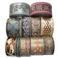 5/10M Vintage Floral Lace Crochet Jacquard Ribbon Braid Trim Fabric Decor Crafts