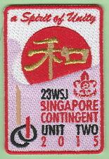 2015 world scout jamboree Japan / SINGAPORE Contingent UNIT 2  patch