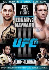 UFC: 136 Edgar vs Maynard III (2 Discs) DVD New (Aust R4)--free postage