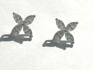 Tiffany & Co. Victoria Collection Large Platinum Diamond Earrings