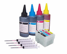 4 Refillable Non Oem Ink Cart KIT For EPSON XP-345 XP-442  XP-432 XP-442 XP-235