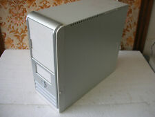 Case Cabinet Tower Vertical White Silver For PC Desktop Computer ATX New Ok