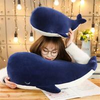 Adorable Blue Whale Cartoon Doll Pillow Plush Stuffed Cushion Soft Toy Girl Gift
