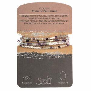 Scout FLUORITE Stone of Brilliance BRACELET or NECKLACE beads Jewelry Wrap SW040