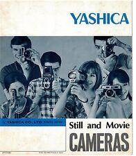 1970s Yashika Still and Movie Camera Brochure all models shown