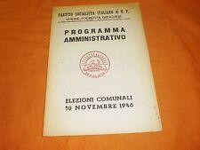 programma amministrativo elezioni 1946 partito socialista italiano di u.p. 1946