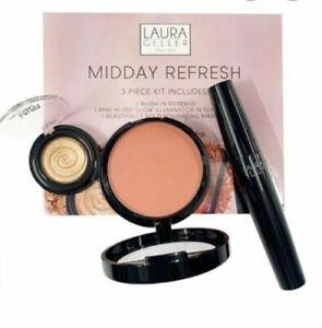NEW Laura Geller Midday Refresh 3 Piece Kit ROSEBUD , SUN BEAM, BEAUTIFUL BOLD
