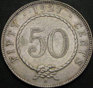SARAWAK (Malaysia) 50 Cents 1927H - Silver - VF+ - 1187 ¤