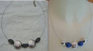 Schöne Kette silberfarben mit Perlen in 2 Varianten neu zu verkaufen