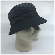 ba6c0437981 Unisex Drawstring Water Resistant Hidden Pocket Packable Rain Bucket Hat  Black
