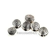 10 Intercalaires spacer Rond spirale 8x8x4mm Perles apprêts création bijoux A225