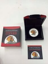Tuvalu 2013 $1 Remarkable Reptiles Frilled Neck Lizard 1oz Silver Proof No. 1000