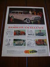 1961 RAMBLER AMERICAN --EXCELLENCE--  ***ORIGINAL PRINT AD***