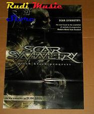 POSTER PROMO SCAR SYMMETRY PITCH BLACK PROGRESS 84X59,5cm NO cd dvd vhs lp live