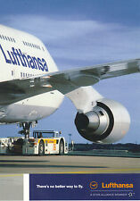 Lufthansa German Boeing 747-400 Airline Issue POSTCARD Limited edition 2006
