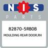 82870-5RB0B Nissan Moulding rear door,rh 828705RB0B, New Genuine OEM Part