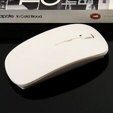 USB wireless mouse and mice 2.4G receiver, super slim mouse White UL