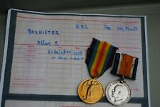 WW1 medal Bannister ASC