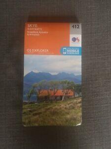Ordnance Survey OS Map Isle Of Skye Scotland Outdoor Walking Guide