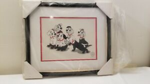 "Disney 101 Dalmatians Ltd Edition ""Puppy Disguise"" Framed Sericel"