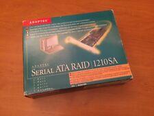 Carte Contrôlleur RAID Adaptec 1210SA + Boîte complète + Câbles + Accessoires
