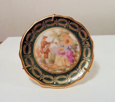 Limoges Mini Plate Ceramic Classical Scene w. Stand Le Palbec Mark