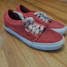 Vans Spitfire Red Low Top Chukka Skatebaoarding Shoes Mens Size 8.5