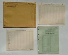 United Motors General Motors 1961 Delco-Remy Packard Rochester Inventory cards