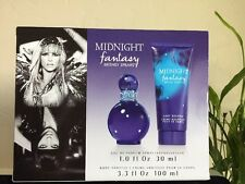 Britney Spears Midnight Fantasy Coffret EDP Spray 1 oz/30ml Body Cream 3.3oz