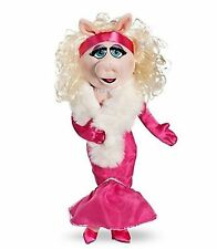 "The Muppets Exclusive 19"" DELUXE Plush Figure Miss Piggy Pink Evening Gown NWT"