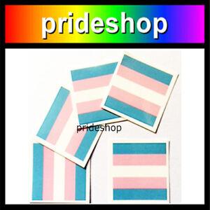 Transgender Flag Temporary Tattoo Packet of 5 Trans Pride #0343