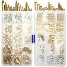 360 Pieces M2 M3 M4 Male Female Brass Spacer Standoff Screw Nut Assortment Kit
