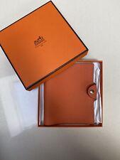 Hermes Togo Leather Ulysse Agenda Notebook Cover PM Small Orange