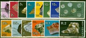 Botswana 1976 Surcharge Set of 14 SG367-380 Very Fine Used