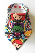 Baby Boys Bandana Dribble Bib. Marvel Kawaii Blocks. Brilliant New Baby Gift!