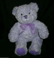 BUILD A BEAR PURPLE TEDDY NIKKIS CANCER CHARITY LIMITED STUFFED ANIMAL PLUSH TOY