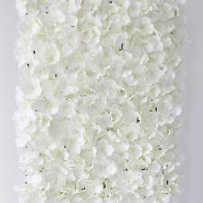 2 X Crema Artificiale Ortensia Fiore Muro Pannello Decorazione Matrimonio Venue