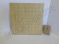 "Pottery Barn Teen Style Tile Wooden Pin Message Peg Board 16"" Square Natural"