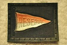 Antique Tobacco Premium Leather College Pennant Patch Reserve! 100+ years old