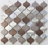 Casablanca Brushed Aluminum Arabesque Mosaic Tiles - Kitchen Backsplash Tile