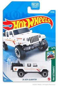 Hot Wheels 2021 HW Getaways 5/5 White '20 Jeep Gladiator
