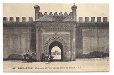 marrakech   remparts et porte du méchouar du sultan