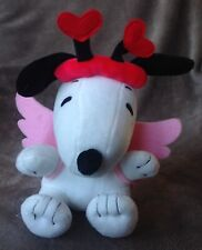 """Hallmark Snoopy Peanuts Cupid Wings & Heart Costume Soft Toy Plush 8"""" USA Excl"""
