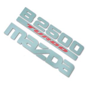For Mazda B2500 Fighter 1998 00 04 06 Sticker Badge B2500 TURBO MAZDA Grey red