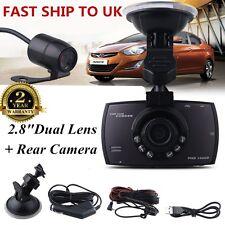 "2.8"" 1080P Dual Lens CAR DVR Dash Cams Video Recorder Night Vision Rear Camera u"