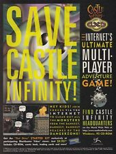 Original 1996 CASTLE INFINITY online multiplayer MMOG video game print ad page