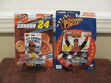 WINNERS CIRCLE 2002 & 2007 JEFF GORDON 1:64 Diecast Cars + Collectors Card &..