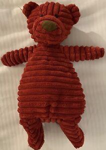Jellycat London Cordy Roy Bear Red Corduroy Teddy Plush 2011 Retired