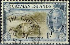 British Cayman Islands Fauna Green Turtle stamp 1940 Colonial Postmark