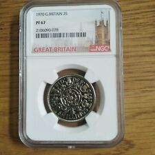 More details for 1970 2 shilling / florin ngc pf67 proof great britain